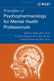 Cover of: Principles of Psychopharmacology for Mental Health Professionals