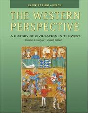 Cover of: The Western Perspective: Prehistory to the Renaissance, Volume A