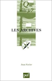 Cover of: Les archives