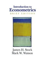 Cover of: Introduction to Econometrics, Brief Edition (Addison-Wesley Series in Economics)