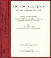 Cover of: Treatise on Conic Sections