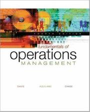 Cover of: Fundamentals of Operations Management with Student CD-ROM and PowerWeb