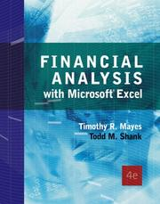 Cover of: Financial Analysis with Microsoft  Excel