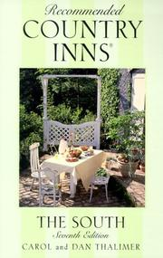 Cover of: Recommended Country Inns The South