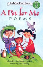 Cover of: A Pet for Me
