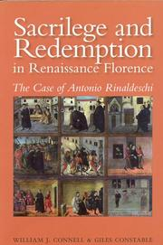Cover of: Sacrilege and Redemption in Renaissance Florence