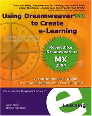 Cover of: Using Dreamweaver MX to Create e-Learning