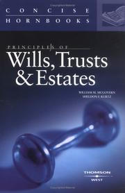 Cover of: Principles of Wills, Trusts and Estates