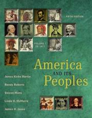 Cover of: America and Its Peoples