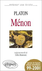 Cover of: Ménon