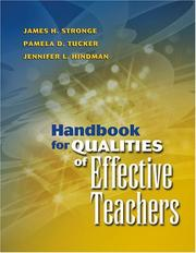 Cover of: Handbook For Qualities Of Effective Teachers