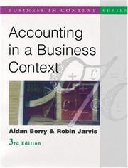 Cover of: Accounting in a Business Context (Business in Contexy)
