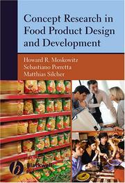 Cover of: Concept Research in Food Product Design and Development
