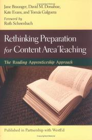 Cover of: Rethinking Preparation for Content Area Teaching