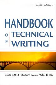 Cover of: The Handbook of Technical Writing, Sixth Edition (Handbook of Technical Writing Practices)