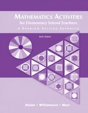 Cover of: Mathematics Activities for Elementary School Teachers