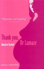 Cover of: Thank You, Dr Lamaze
