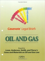 Cover of: Casenote Legal Briefs - Oil & Gas
