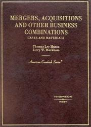 Cover of: Mergers and Acquisitions (American Casebook) (American Casebook Series)