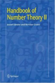 Cover of: Handbook of Number Theory II