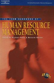 Cover of: The IEBM Handbook of Human Resource Management (International Encyclopedia of Business & Management)