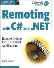 Cover of: Remoting with C# and .NET