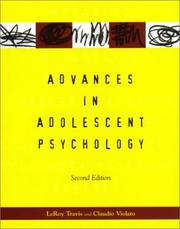 Cover of: Advances in Adolescent Psychology