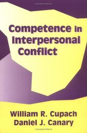 Cover of: Competence in Interpersonal Conflict