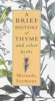Cover of: A Brief History of Thyme