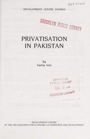 Cover of: Privatisation in Pakistan