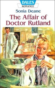 Cover of: The Affair of Doctor Rutland (Dales Romance)