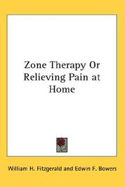 Cover of: Zone Therapy Or Relieving Pain at Home