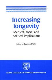 Cover of: Increasing Longevity