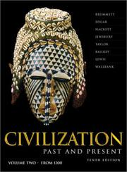Cover of: Civilization Past & Present, Vol. 2