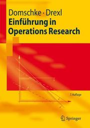 Cover of: Einführung in Operations Research (Springer-Lehrbuch)