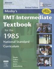 Cover of: Mosby's EMT-Intermediate Textbook for the 1985 National Standard Curriculum - Revised Edition