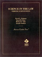 Cover of: Science in the Law