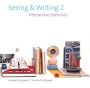 Cover of: Seeing and Writing Second Edition CD-Rom