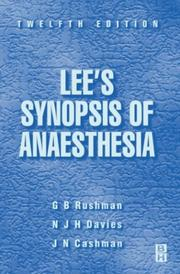Cover of: Lee's Synopsis of Anaesthesia