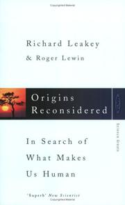 Cover of: Origins Reconsidered