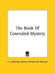 Cover of: The Book of Concealed Mystery