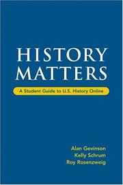 Cover of: History Matters
