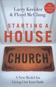 Cover of: Starting a House Church