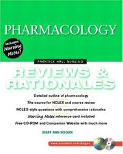 Cover of: Pharmacology