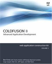 Cover of: Adobe ColdFusion 8 Web Application Construction Kit, Volume 3