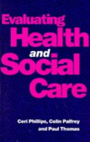Cover of: Evaluating Health and Social Care
