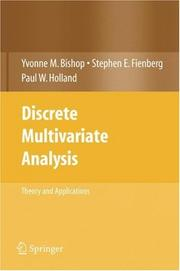 Cover of: Discrete Multivariate Analysis