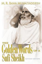 Cover of: Golden Words of a Sufi Sheikh