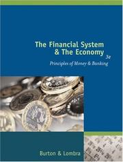Cover of: The Financial System and the Economy