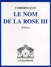 Cover of: Le Nom de la rose